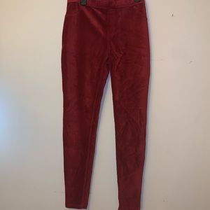 Hue red corduroy leggings. Size: L